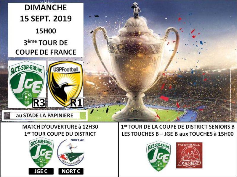 La JGE défie une R1 au 3ème tour de Coupe de France