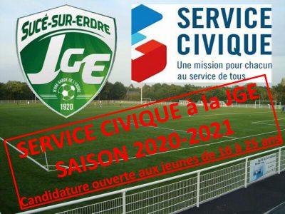 Service Civique à la JGE – Saison 2020-2021