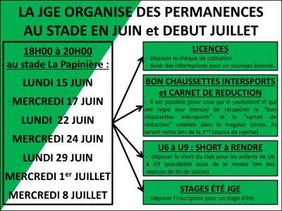Permanences JGE