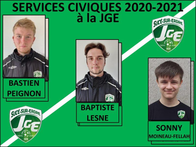 Présentation des Services Civiques JGE- saison 2020-2021