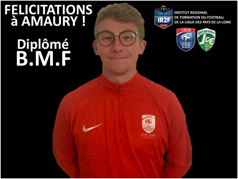 Félicitations à Amaury !