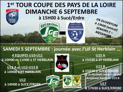 L'équipe A reçoit Treillières en Coupe des Pays de La Loire