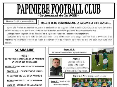 Le Papinière FC n° 6 est en ligne