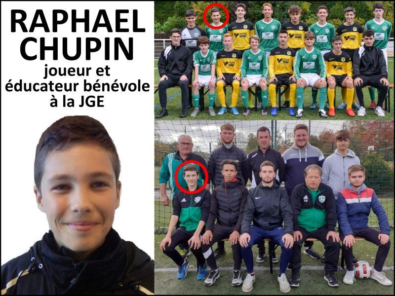 Raphaël Chupin, jeune éducateur bénévole du club, a fait un stage à la JGE