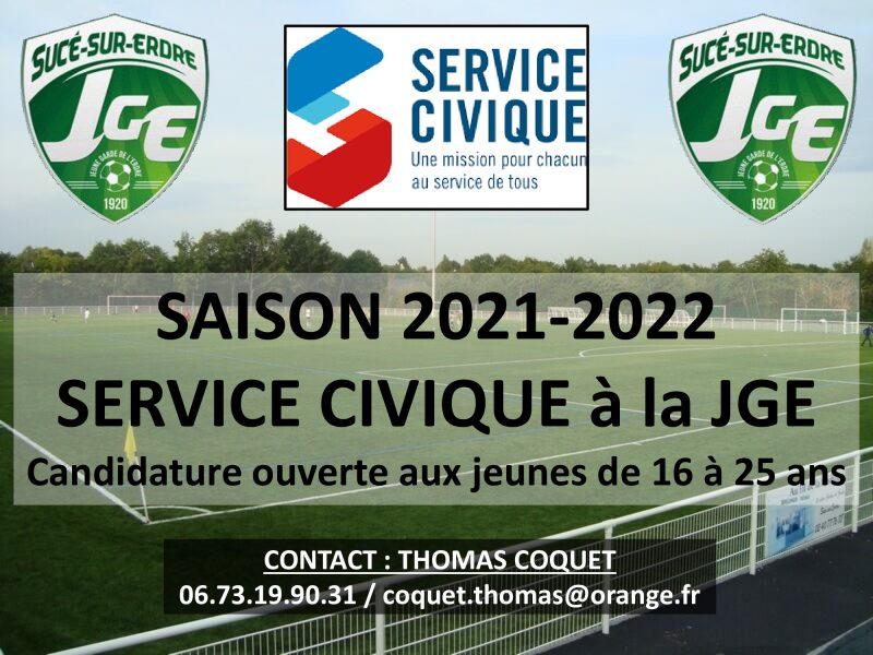 Service Civique à la JGE – Saison 2021-2022