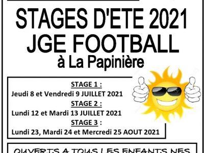 Les inscriptions aux Stages d'Eté JGE 2021  sont ouvertes