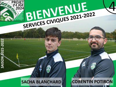 La JGE accueille Sacha et Corentin en Service Civique