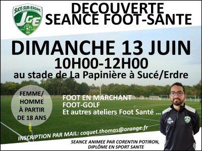 Séance découverte Foot Sport-Santé le dimanche matin 13 juin