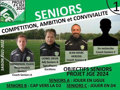 Le Staff Seniors prépare la saison 2021-2022